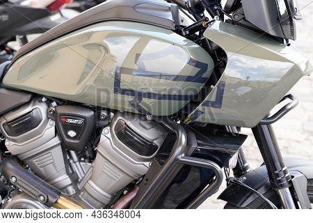Bordeaux , Aquitaine  France - 10 10 2021 : Harley Davidson Pan America 1250 Adventure Touring Motor