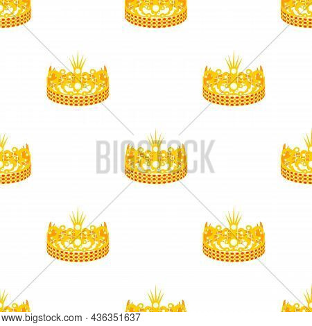 Crown Of The Princess Pattern Seamless Background Texture Repeat Wallpaper Geometric Vector