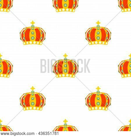 Monomach Cap Pattern Seamless Background Texture Repeat Wallpaper Geometric Vector