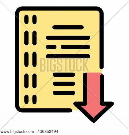 Internet Catalog Icon. Outline Internet Catalog Vector Icon Color Flat Isolated