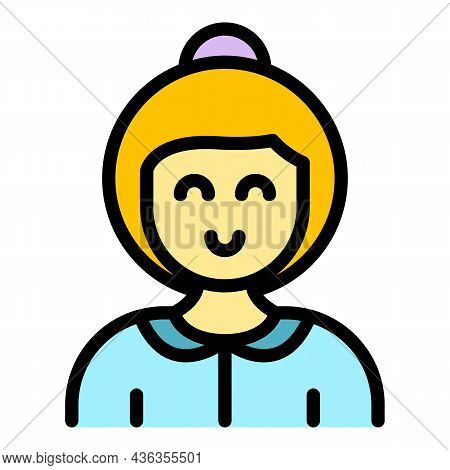 Care Assistant Icon. Outline Care Assistant Vector Icon Color Flat Isolated