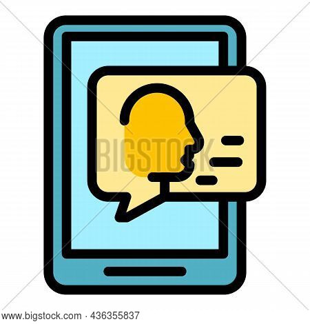 Digital Support Icon. Outline Digital Support Vector Icon Color Flat Isolated