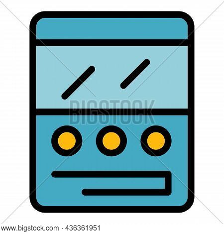 Comment Interface Icon. Outline Comment Interface Vector Icon Color Flat Isolated