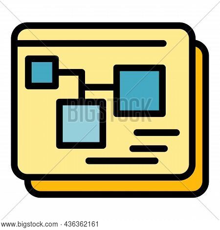Scheme Interface Icon. Outline Scheme Interface Vector Icon Color Flat Isolated