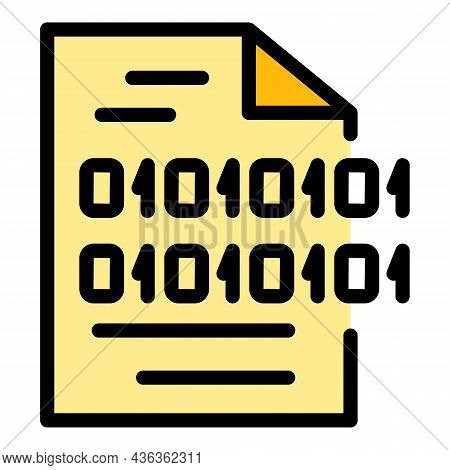 Code Interface Icon. Outline Code Interface Vector Icon Color Flat Isolated