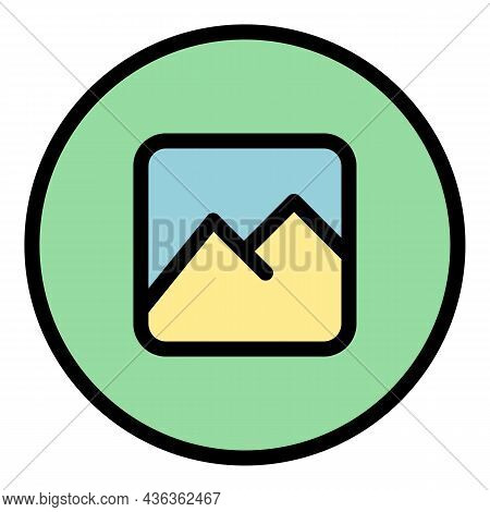 Upload Picture Interface Icon. Outline Upload Picture Interface Vector Icon Color Flat Isolated