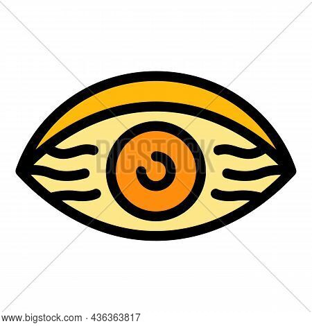 Daily Tired Eye Icon. Outline Daily Tired Eye Vector Icon Color Flat Isolated