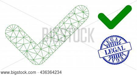 Web Carcass Valid Vector Icon, And Blue Round Legal Dirty Badge. Legal Seal Uses Round Template And