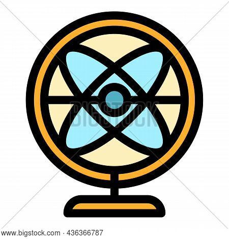 Perpetual Motion Balance Icon. Outline Perpetual Motion Balance Vector Icon Color Flat Isolated