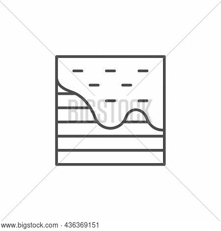 Self-leveling Floor Line Outline Icon Isolated On White