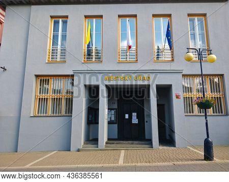 Benesov U Prahy, Czech Republic - September 28, 2021: Main Entrance Into The Local Authority Of The