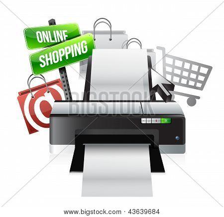 Printer Online Shopping Concept