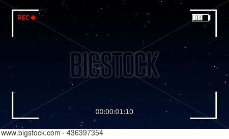 Shinny Stars Animation On Sky Background. Graphic Overlay Effect With Galaxy Sky Twinkling Light In