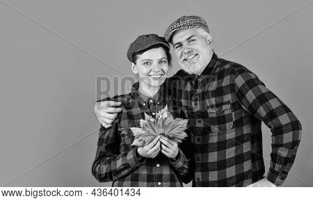 Farmer Family Concept. Autumn Is Coming To Our Village. Farmers Market. Autumn Mood. Couple In Love