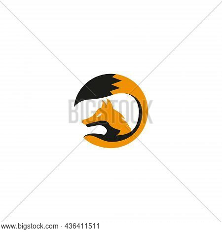 Vector Illustration Of A Fox For An Icon, Symbol Or Logo. Suitable For Logos Of All Types Of Busines