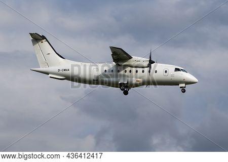 Hamburg, Germany - July 5, 2017: Mhs Aviation Passenger Plane At Airport. Schedule Flight Travel. Av