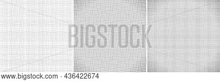 Thread Texture Set. Fabric Pattern. Canvas Background. Linen Fabric. Burlap Backdrop. Textile Struct