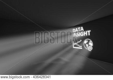 Data Insight Rays Volume Light Concept 3d Illustration