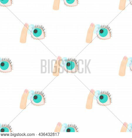 Inserting A Contact Lens In The Eye Pattern Seamless Background Texture Repeat Wallpaper Geometric V