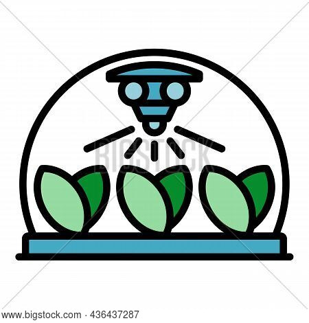 Smart Plant Irrigation Icon. Outline Smart Plant Irrigation Vector Icon Color Flat Isolated