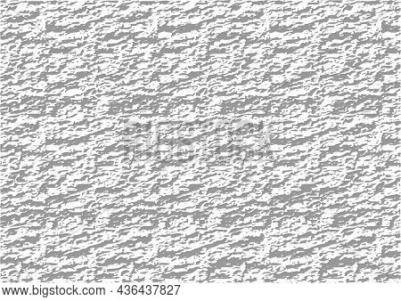 White Rough Wall Background With A Concrete Texture - Pattern As Illustration In Grayscale Colors, V