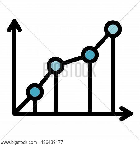 Startup Graph Icon. Outline Startup Graph Vector Icon Color Flat Isolated