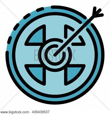 Startup Target Icon. Outline Startup Target Vector Icon Color Flat Isolated