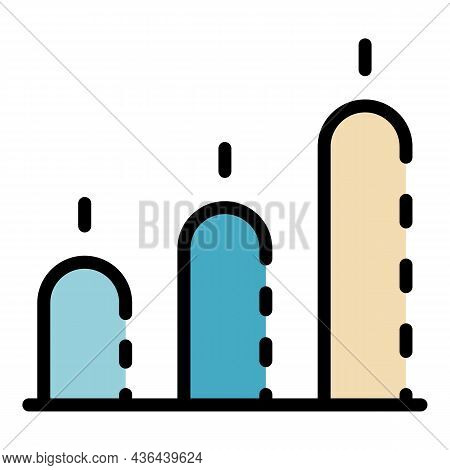 Startup Chart Bars Icon. Outline Startup Chart Bars Vector Icon Color Flat Isolated
