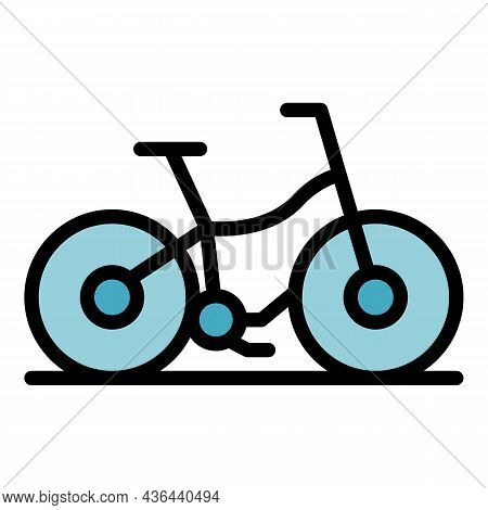 Modern Rent Bike Icon. Outline Modern Rent Bike Vector Icon Color Flat Isolated