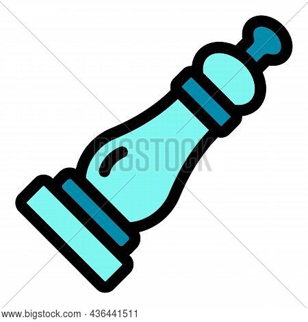 Pepper Grinder Icon. Outline Pepper Grinder Vector Icon Color Flat Isolated