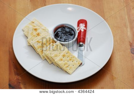 Crackers In Dish