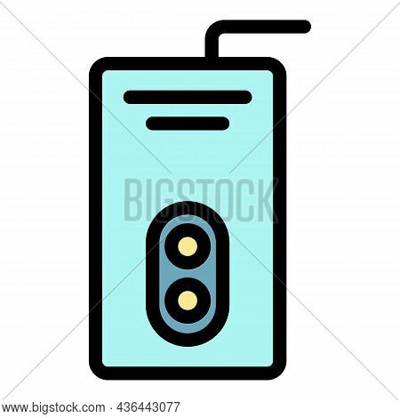 Double Circuit Boiler Icon. Outline Double Circuit Boiler Vector Icon Color Flat Isolated