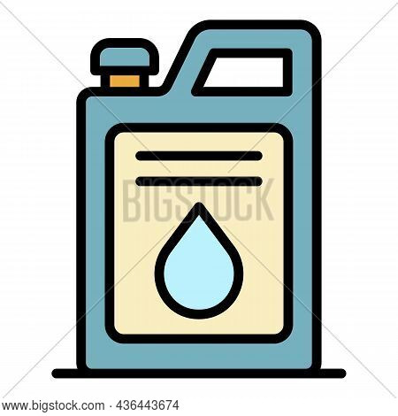Fuel Canister Icon. Outline Fuel Canister Vector Icon Color Flat Isolated