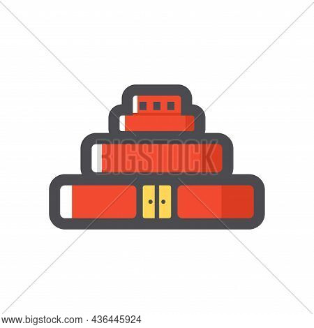 Russian Mausoleum On The Red Square Vector Icon Cartoon Illustration
