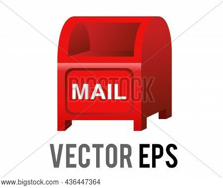 Vector Red Japan Public Mailbox, Postbox, Letterbox Icon