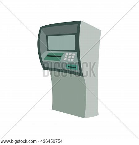 Bank Atm Machine, To Withdraw Money, Realistic Vector Isolated On White Background