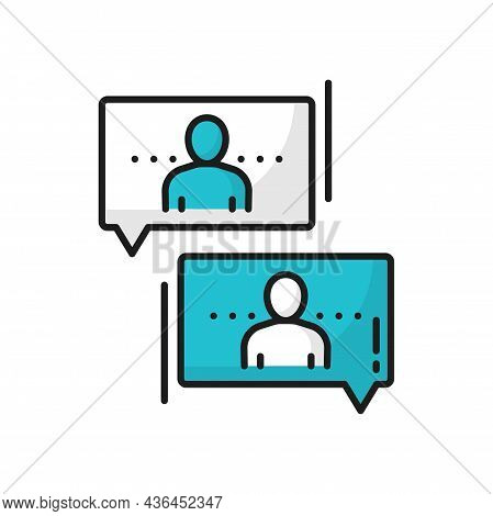 Support Center, People Communicate, Chat Line Icon. Vector Partnership, Teamwork Collaboration, Cowo