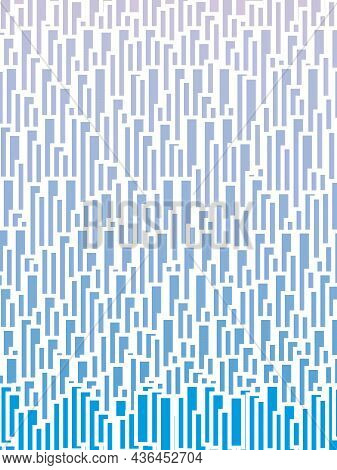 A Blue Backdrop Made Up Of A Set Fading Blue Blocks.
