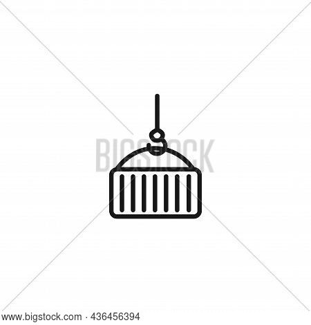 Container Logistic Line Icon. Container Logistic Isolated Line Icon