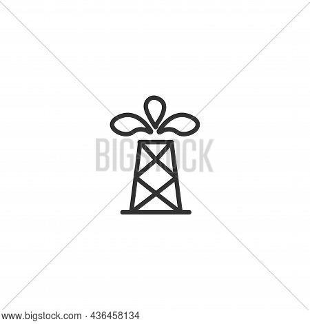Oil Industry Icon. Oil Well Icon. Oil Well Icon