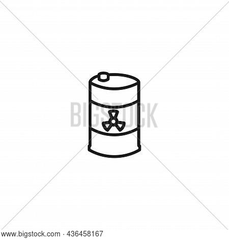 Toxic Container Line Icon. Toxic Container Isolated Line Icon