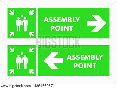 Signs Of Gathering Places For Emergencies, Emergency Evacuation Assembly Point Sign, Gathering Point