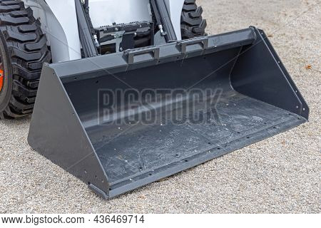 Small Bucket At Front Loader Machine Equipment