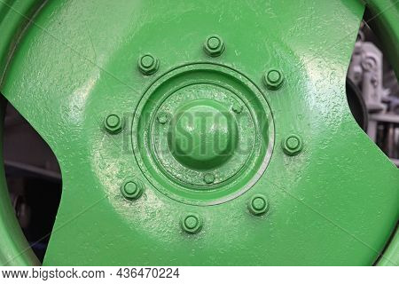 Big Wheel Rim At Green Agriculture Tractor