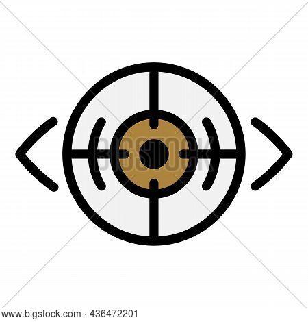 Laser Eye Correction Icon. Outline Laser Eye Correction Vector Icon Color Flat Isolated