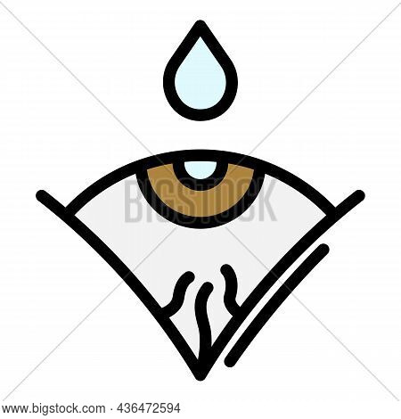 Drop Over The Eye Icon. Outline Drop Over The Eye Vector Icon Color Flat Isolated