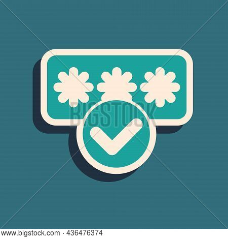 Green Password Protection And Safety Access Icon Isolated On Green Background. Security, Safety, Pro