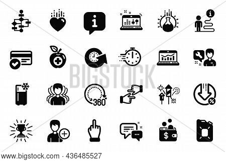 Vector Set Of Business Icons Related To Trophy, Payment Methods And Click Hands Icons. Loan Percent,