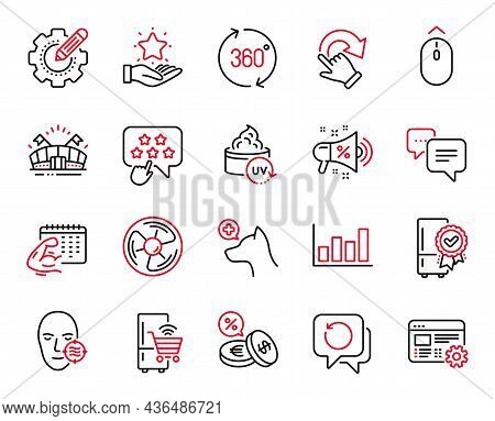 Vector Set Of Business Icons Related To Problem Skin, Veterinary Clinic And Swipe Up Icons. Certifie