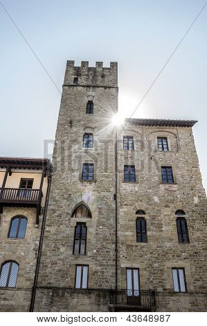 Medieval Palace In Arezzo, Italy